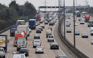 Two men arrested after six-mile police chase the wrong way round the M25