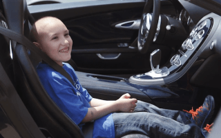 Dream Bugatti ride becomes reality for severely ill child