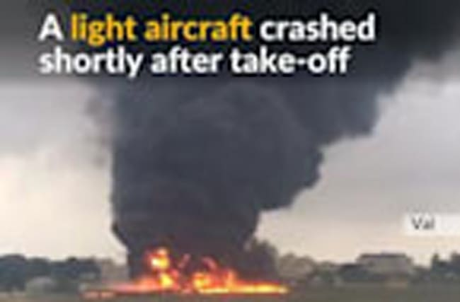 Plane crashes in Malta after take-off
