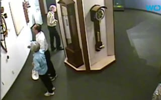 Museum visitors break priceless clock
