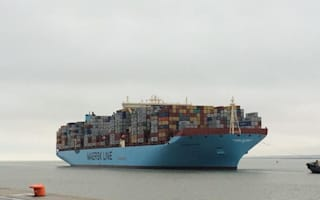 World's largest container ship docks in London