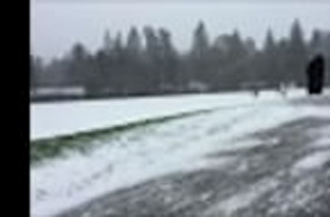 Raw: Snow, Freezing Rain Hit Portland