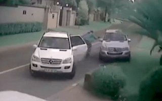 Shocking footage shows attempted carjacking in South Africa