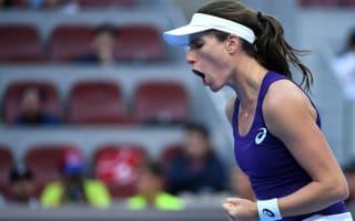 Konta starts strongly, Kvitova dominates Vinci