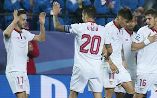 Sevilla 2 Leicester City 1: Vardy's strike tees up second leg after Schmeichel heroics