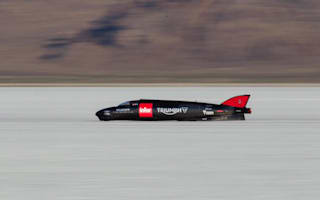 Triumph land speed record halted after weather causes crash
