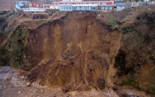 Care home left teetering on edge of cliff after Jersey landslide