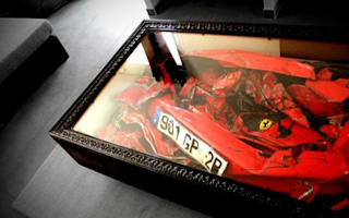 This year's must-have coffee table is...a wrecked Ferrari
