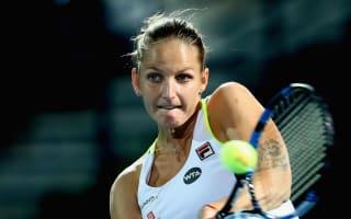 Defending champion Pliskova batters Voegele
