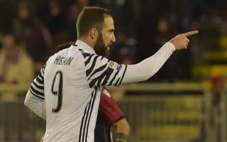 Cagliari 0 Juventus 2: Higuain double punishes 10-man hosts