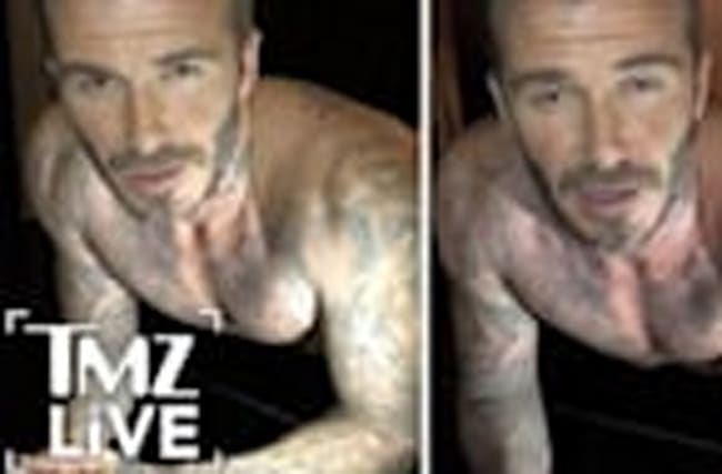 David Beckham Underwear Workout! (TMZ Live)