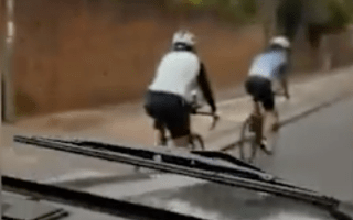 Angry 4x4 driver films himself shouting abuse at cyclists