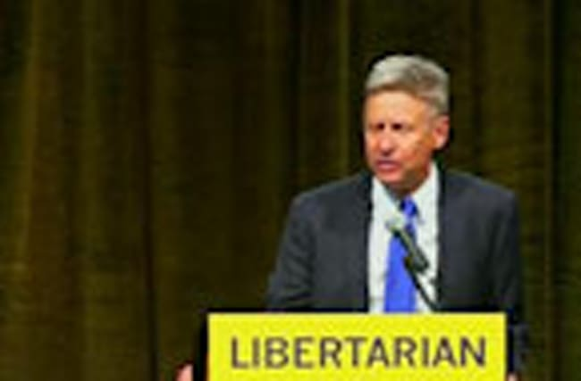 Trump alternative Johnson vies for Libertarian nomination