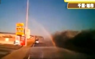 Driver films scary moment when Japanese tsunami hit