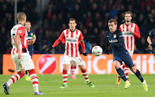 PSV 0 Atletico Madrid 0: Zoet excels for 10-man hosts