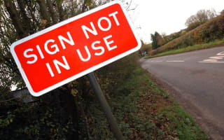 Transport Secretary to axe 'pointless' road signs