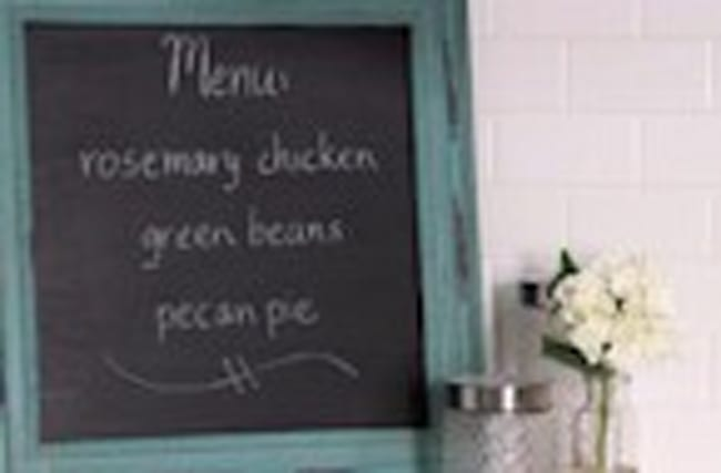 Upcycled Chalkboard Menu