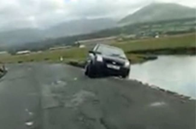 Driver swept out to sea trying to retrieve valuables from car