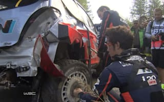 Video: Rally driver fells tree in high-speed crash