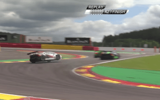 Lamborghini's high-speed spin comes close to disaster