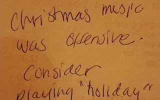 Customer asks restaurant to stop 'offensive' Christmas music