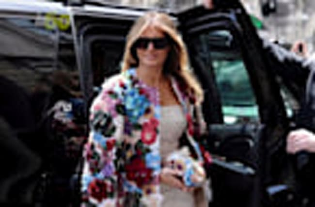 Melania Trump's 'Flower Power' Look in Sicily Worth $51K