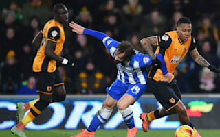 Football League Review: Brighton hold Hull, Carlisle survive despite first-minute dismissal