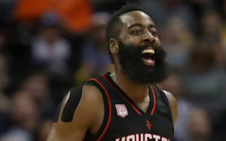 James Harden gives game ball to 100-year-old Rockets fan