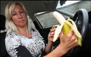Motorist fined £100 for eating banana