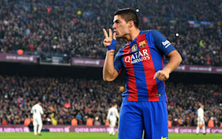 Barcelona were the better team in El Clasico - Suarez