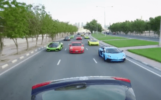 Exclusive Doha supercar meet caught on film