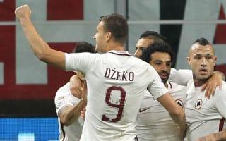 AC Milan 1 Roma 4: Dzeko's double keeps Serie A title race alive
