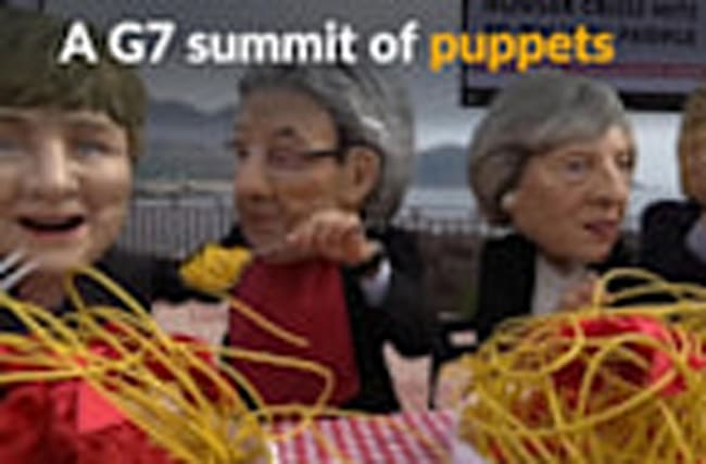 Puppet forms of G7 leaders gather ahead of summit in Italy