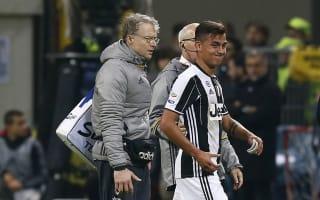 Juventus hopeful Dybala can resume training in three weeks