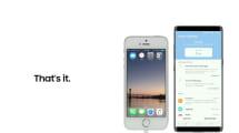 Samsung quiere demostrarte lo fácil que llevar tus datos de un iPhone a un Galaxy Note 8