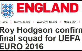 Rashford, Sturridge make England's Euro 2016 squad