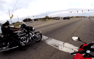 Harley-riding US Cop proves the fuzz can have fun