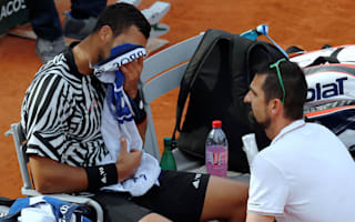 Tsonga retires injured from French Open
