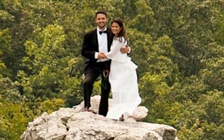 Most extreme wedding ever? Couple marry on 900ft mountain peak