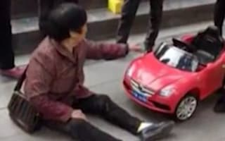 Chinese woman demands compensation after toy car accident
