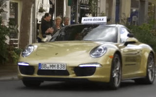 Porsche surprises students with 911 test car