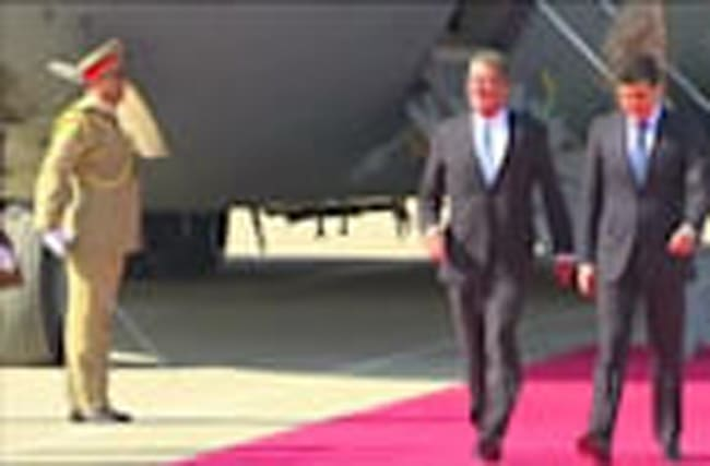 U.S. defence secretary Carter arrives in Erbil