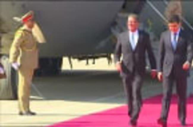 U.S. defence secretary Carter arrives in Erbil