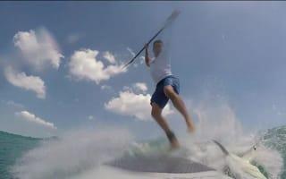 Shark knocks man off paddle board in Florida (watch)