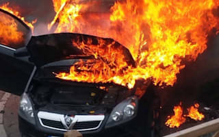 Mother saves 10-month old son as car bursts into flames