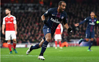 Arsenal 2 Paris Saint-Germain 2: Lucas ensures fight for top spot goes to the wire