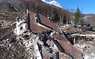 Harrowing footage shows avalanche destroying Italian hotel