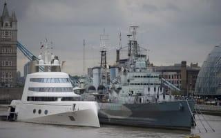 £225 million superyacht sails into London