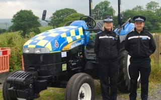 Police unveil fully liveried tractor to raise awareness of rural crime