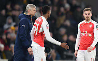 Wenger upbeat over injured Arsenal trio